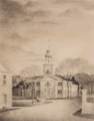 Thomas Fransioli (1906-1997) - 1975 Graphite Drawing, Congregational Church