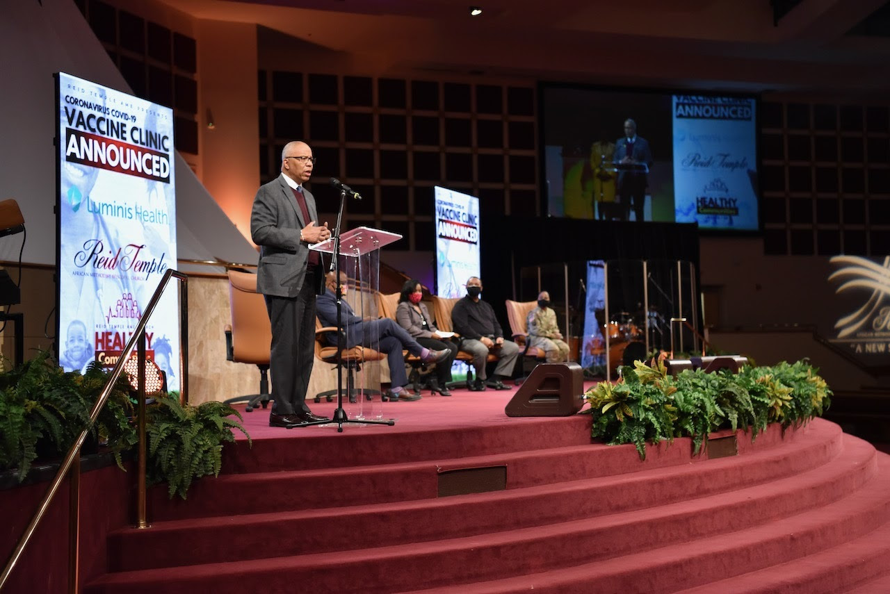 lt. gov. boyd rutherford speaks at AME church