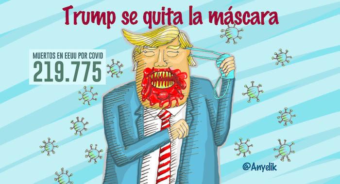 Trump-covid-caricatura-Anyelik