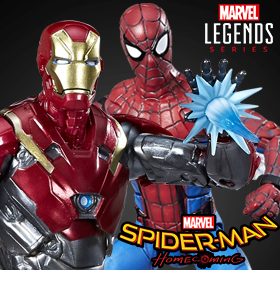 Spider-Man: Homecoming Marvel Legends Spider-Man & Iron Man Sentry Two-Pack