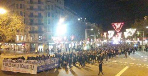 Miles de manifestantes piden tomaron las calles de Barcelona