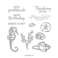 Seaside Notions Cling Stamp Set