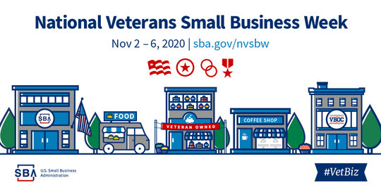 National Veteran Small Business Week November 2 through 6 2020
