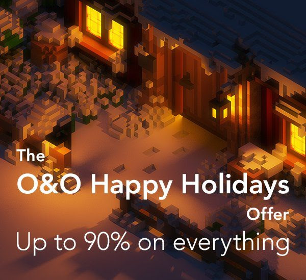 The O&O Happy Holiday Offer - 90% Off Coupon