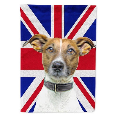Caroline's Treasures Jack Russell Terrier with English Union Jack ...