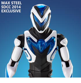 Max Steel Turbo Charged Max Steel With Weaponized Steel SDCC 2014 Exclusive