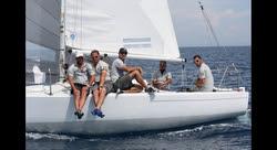 J/24 La Superba team from Italy
