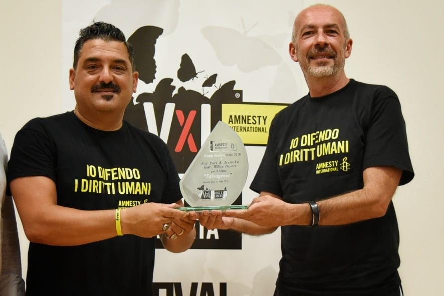 Roy Paci e Michele Lionello, direttore di Voci per la libertà - foto di Artax