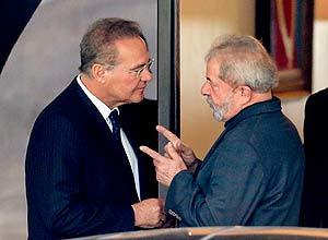 Lula se reúne com o presidente do Senado, Renan Calheiros – Pedro Ladeira/Folhapress