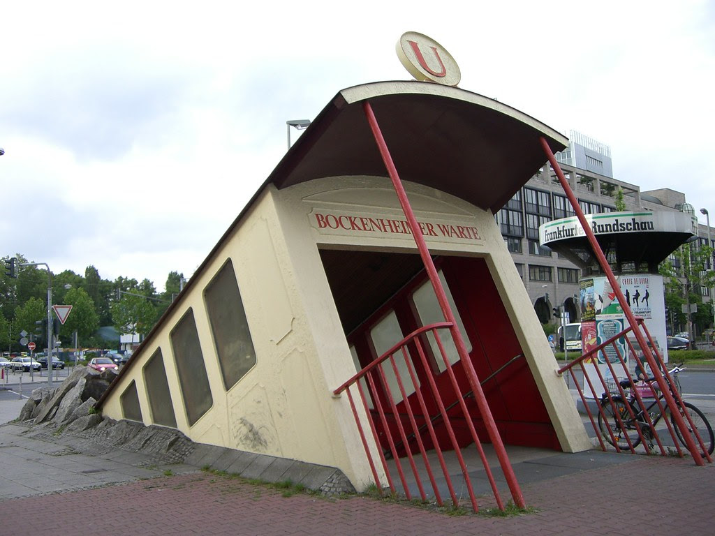 http://twistedsifter.com/2013/03/bockenheimer-warte-subway-entrance-frankfurt-germany/