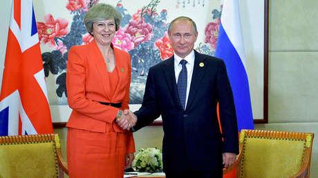 Vladímir Putin se reúne con Theresa May en la Cumbre del G20 en Hangzhou, el 4 de septiembre de 2016