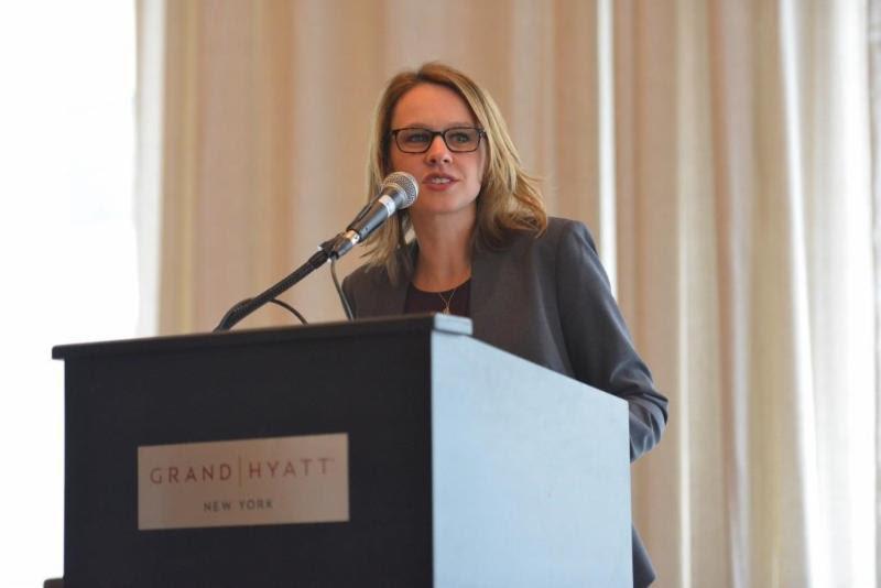 Elizabeth Núñez addresses the audience