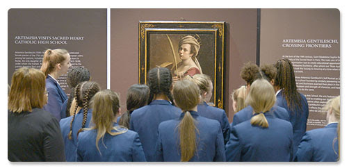 Artemisia at Sacred Heart Catholic High School © The National Gallery, London