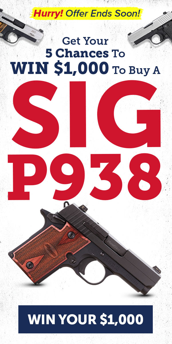 We're giving FIVE lucky winners $1,000 to buy their own brand-new SIG, Ammo & Accessories! Enter now for your 5 chances to WIN! Like any other exclusive deal, this one isn't going to last, so secure your free entry now. Entry is quick, simple and free: https://win.usconcealedcarry.net/18-june-giveaway/?tID=5b2933f5e1e24