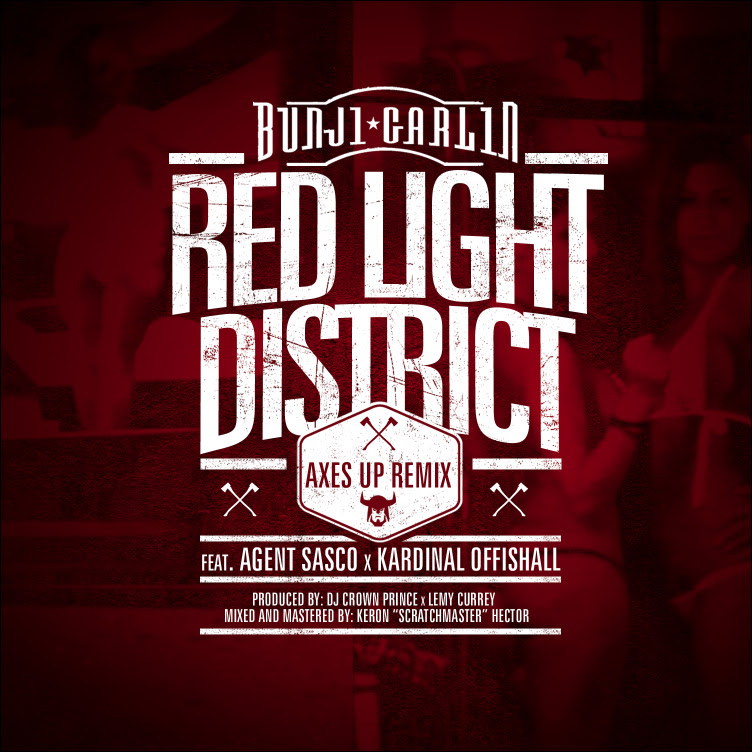 RED LIGHT DISTRICT AXES UP COVER