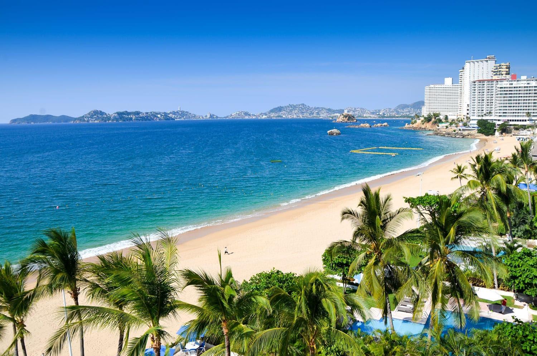 Meksika'daki Acapulco Plajı