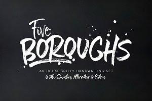 Five Boroughs Fonts • SUPER SALE!