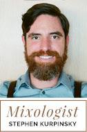 Mixologist Stephen Kurpinsky