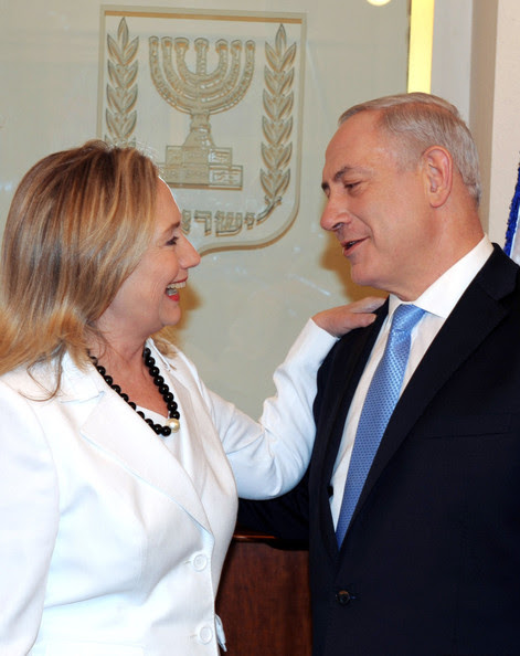 Benjamin Netanyahu In this handout photo provided by the GPO, Israeli Prime Minister Benjamin Netanyahu meets with U.S. Secretary of State Hillary Clinton on July 16, 2012 in Jerusalem, Israel. Clinton is in Israel to discuss diplomacy with Iran, Syria and Egypt in addition to peace talks regarding the Middle East.