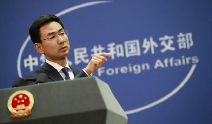Foto: portavoz del Ministerio de Exteriores chino, Geng Shuang.