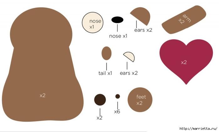Mackó Valentin nemezből készült. Sablonok (5) (700x421, 72kb)