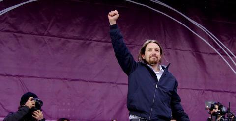 El secretario general de Podemos, Pablo Iglesias, el pasado enero en madrid. -JAIRO VARGAS