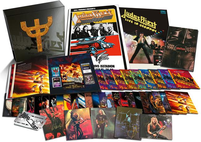 image article Judas Priest fête son 50ème anniversaire avec un énorme coffret de 42 CD !