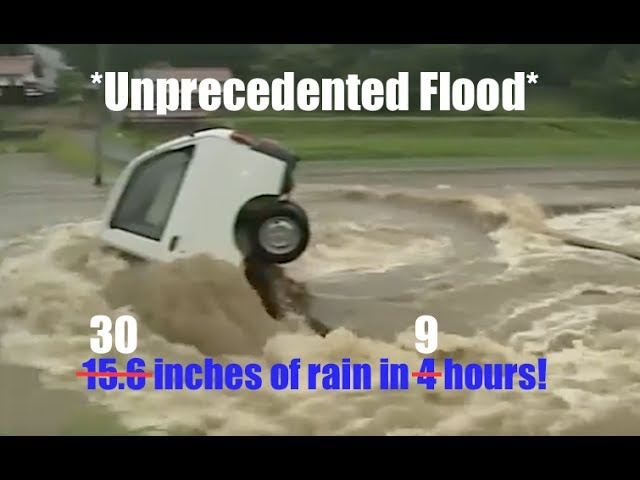 *Unprecedented* - 400,000 evacuated as 15.6 inches of rain falls in 4 hours!  Sddefault