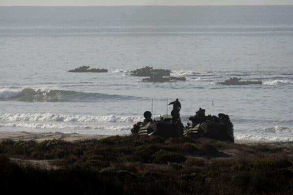 Image of search and rescue for missing and injured marines