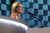 Meryl Streep spoke at the Democratic National Convention on Tuesday.