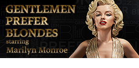 MARILYN MONROE GENTLEMEN PREFER BLONDES STATUE