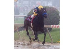 Ax Man emerges from the fog to win the Sir Barton Stakes at Pimlico Race Course
