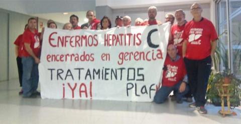 Enfermos de hepatitis C se encierran en el Hospital Severo Ochoa de Leganés. @PLAFHC