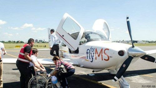 A punto de volar en Argentina.