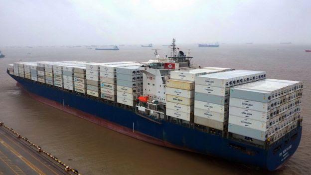 Navio com exportações chinesas