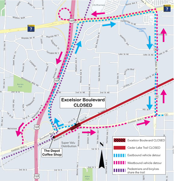 Upcoming Excelsior Boulevard Detour