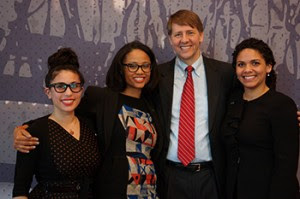 Richard Cordray with Greenlining's Economic Equity team.