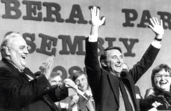 Cyril Smith witht eh then Liberal democrat leader David Steel in 1987