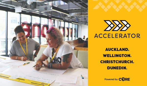 ACCELERATOR - Auckland. Wellington. Christchurch. Dunedin. Photo of last years event.