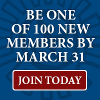 Be One of 100 New Members by March 31. Join Today