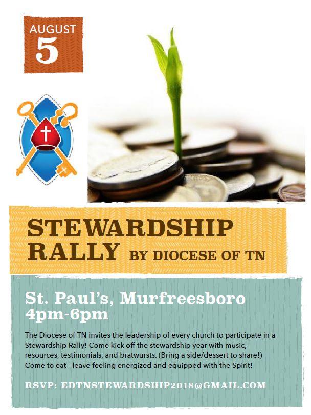 Stewardship Rally @ St. Paul's, Murfreesboro | Murfreesboro | Tennessee | United States