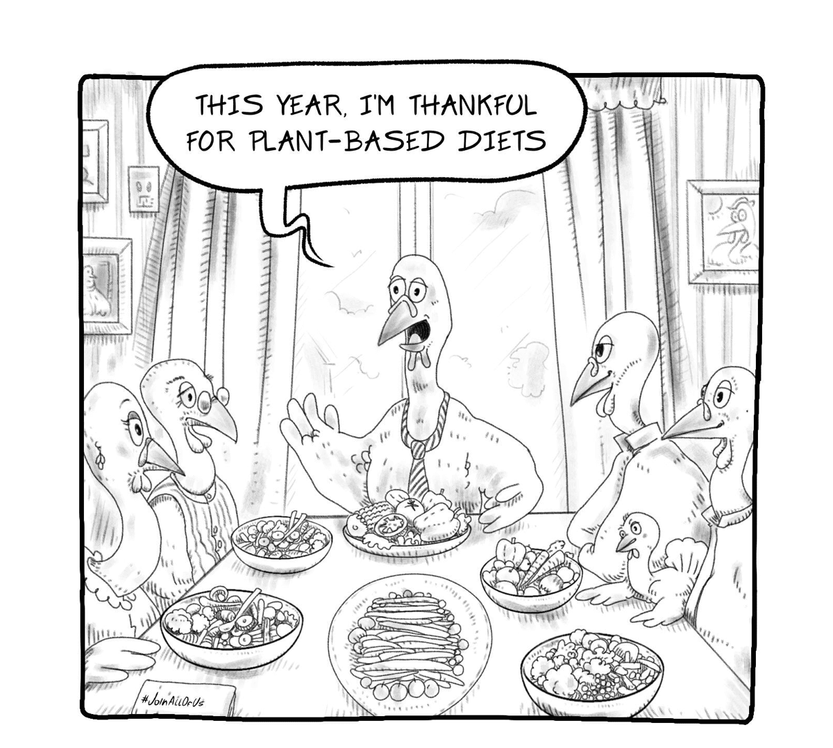 Cartoon Corner - Happy Thanksgiving