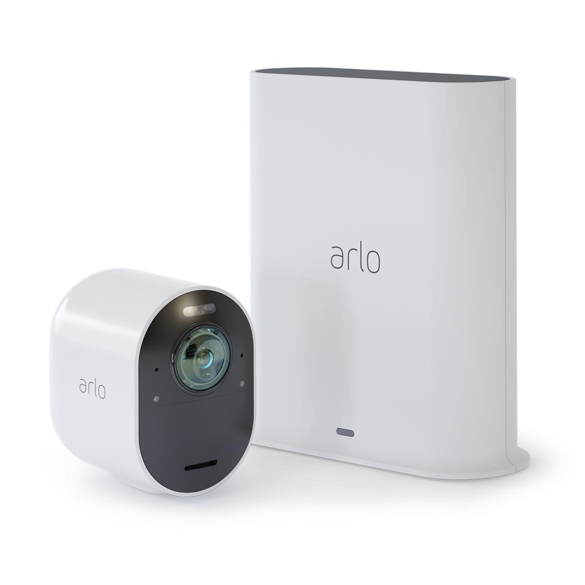 ArloUltra_CameraAndSmartHub.134220 Arlo annonce Arlo Ultra, un système de caméra de sécurité sans fil 4K HDR révolutionnaire