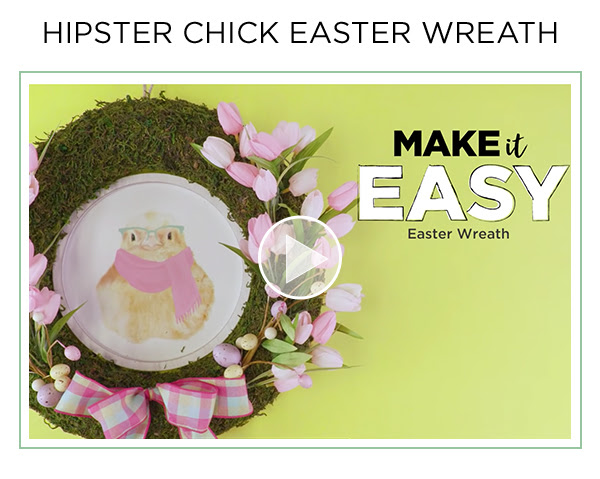 Video: Hipster Chick Easter Wreath