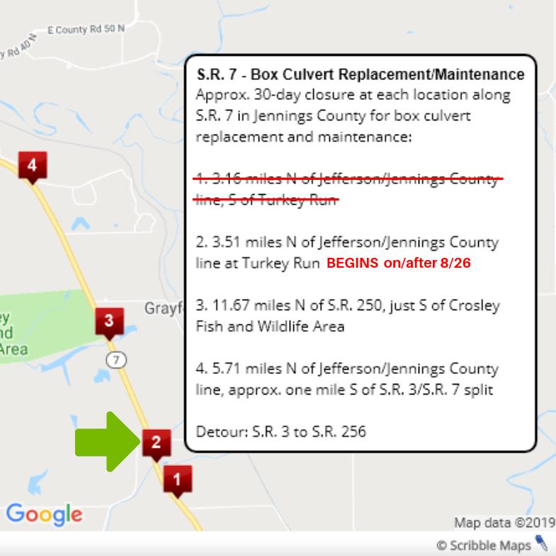 SR 7 Culvert Update 8-26