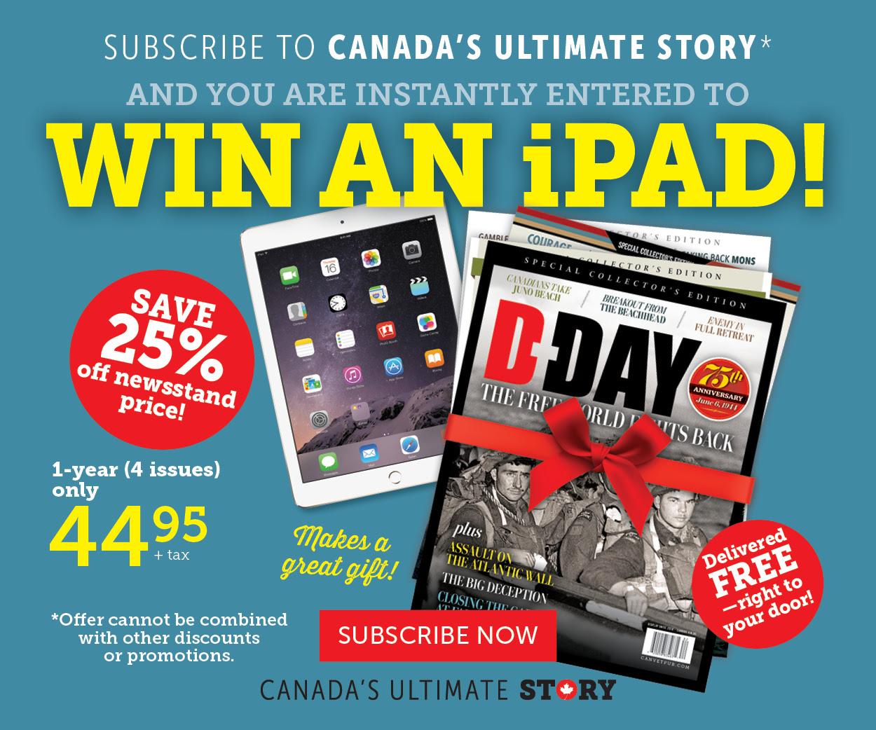 Win an iPAD! Subscribe to CUS!