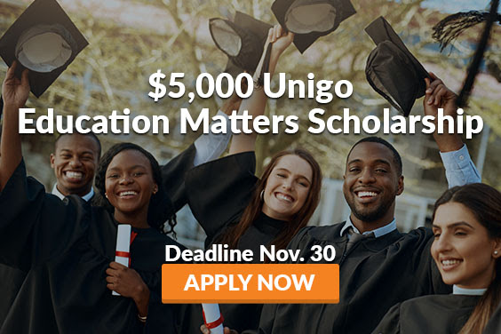$5,000 Unigo Education Matters Scholarship