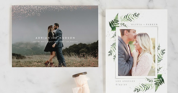Minted's 2018 Save the Date Collection