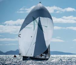 J/121 Apollo sailing off St Maarten