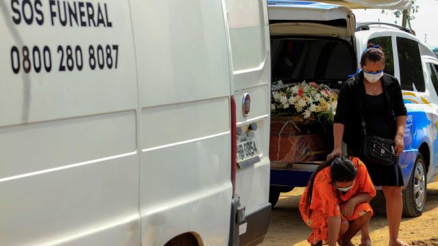Média móvel de mortes por Covid-19 no Brasil fica em 1050